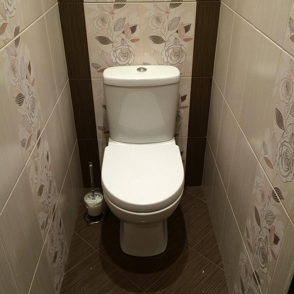 Ремонт в туалете плитка фото